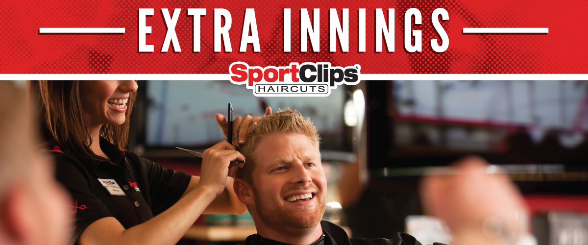 The Sport Clips Haircuts of San Jose Extra Innings Offerings